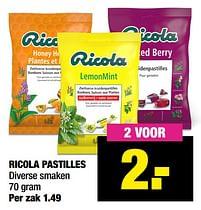 Aanbiedingen Ricola pastilles - Ricola - Geldig van 13/09/2021 tot 26/09/2021 bij Big Bazar