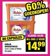 Aanbiedingen Robijn wascapsules - Robijn - Geldig van 13/09/2021 tot 26/09/2021 bij Big Bazar