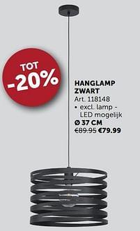 Aanbiedingen Hanglamp zwart ø 37 cm -  - Geldig van 21/09/2021 tot 19/10/2021 bij Zelfbouwmarkt
