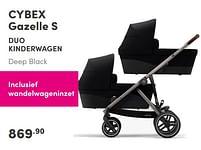 Aanbiedingen Cybex gazelle s duo kinderwagen - Cybex - Geldig van 19/09/2021 tot 25/09/2021 bij Baby & Tiener Megastore