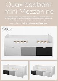 Aanbiedingen Quax bedbank mini mezzanine - Quax - Geldig van 19/09/2021 tot 25/09/2021 bij Baby & Tiener Megastore
