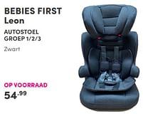 Aanbiedingen Bebies first leon autostoel - bebiesfirst - Geldig van 19/09/2021 tot 25/09/2021 bij Baby & Tiener Megastore
