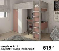 Aanbiedingen Hoogslaper studio - Huismerk - Baby & Tiener Megastore - Geldig van 19/09/2021 tot 25/09/2021 bij Baby & Tiener Megastore