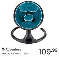 Aanbiedingen X-adventure rocco velvet green - Xadventure - Geldig van 19/09/2021 tot 25/09/2021 bij Baby & Tiener Megastore