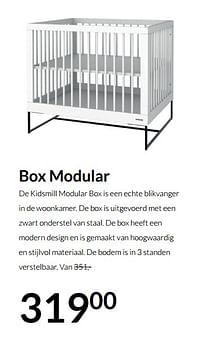 Aanbiedingen Box modular - Huismerk - Babypark - Geldig van 21/09/2021 tot 18/10/2021 bij Babypark