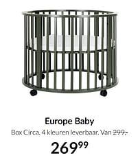 Aanbiedingen Europe baby box circa - Europe baby - Geldig van 21/09/2021 tot 18/10/2021 bij Babypark