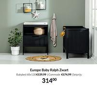 Aanbiedingen Europe baby ralph zwart - Europe baby - Geldig van 21/09/2021 tot 18/10/2021 bij Babypark