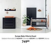 Aanbiedingen Europe baby vittoria zwart - Europe baby - Geldig van 21/09/2021 tot 18/10/2021 bij Babypark