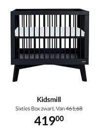 Aanbiedingen Kidsmill sixties box zwart - Kidsmill - Geldig van 21/09/2021 tot 18/10/2021 bij Babypark