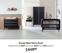 Aanbiedingen Europe baby sterre zwart - Europe baby - Geldig van 21/09/2021 tot 18/10/2021 bij Babypark