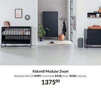 Aanbiedingen Kidsmill modular zwart - Kidsmill - Geldig van 21/09/2021 tot 18/10/2021 bij Babypark
