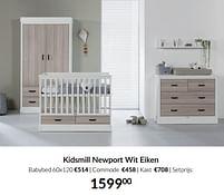 Aanbiedingen Kidsmill newport wit eiken - Kidsmill - Geldig van 21/09/2021 tot 18/10/2021 bij Babypark