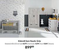 Aanbiedingen Kidsmill sem nautic grijs - Kidsmill - Geldig van 21/09/2021 tot 18/10/2021 bij Babypark
