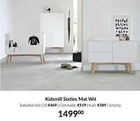 Aanbiedingen Kidsmill sixties mat wit - Kidsmill - Geldig van 21/09/2021 tot 18/10/2021 bij Babypark