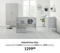 Aanbiedingen Kidsmill amy grijs - Kidsmill - Geldig van 21/09/2021 tot 18/10/2021 bij Babypark