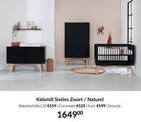 Aanbiedingen Kidsmill sixties zwart - naturel - Kidsmill - Geldig van 21/09/2021 tot 18/10/2021 bij Babypark
