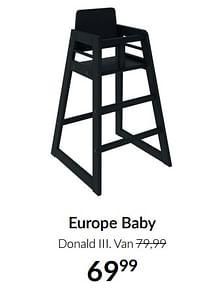 Aanbiedingen Europe baby donald iii - Europe baby - Geldig van 21/09/2021 tot 18/10/2021 bij Babypark