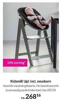 Aanbiedingen Kidsmill up incl newborn - Kidsmill - Geldig van 21/09/2021 tot 18/10/2021 bij Babypark