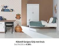 Aanbiedingen Kidsmill savigno grijs met kruis bed - Kidsmill - Geldig van 21/09/2021 tot 18/10/2021 bij Babypark
