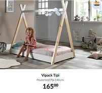 Aanbiedingen Vipack tipi peuterbed - Vipack - Geldig van 21/09/2021 tot 18/10/2021 bij Babypark