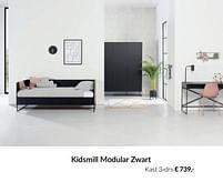 Aanbiedingen Kidsmill modular zwart kast 3-drs - Kidsmill - Geldig van 21/09/2021 tot 18/10/2021 bij Babypark