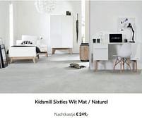 Aanbiedingen Kidsmill sixties wit mat - naturel nachtkastje - Kidsmill - Geldig van 21/09/2021 tot 18/10/2021 bij Babypark