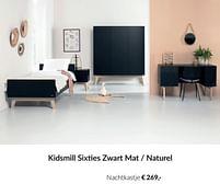 Aanbiedingen Kidsmill sixties zwart mat - naturel nachtkastje - Kidsmill - Geldig van 21/09/2021 tot 18/10/2021 bij Babypark