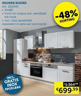 Aanbiedingen Keuken njord -  - Geldig van 05/10/2021 tot 01/11/2021 bij Zelfbouwmarkt