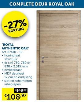 Aanbiedingen Royal authentic oak -  - Geldig van 05/10/2021 tot 01/11/2021 bij Zelfbouwmarkt