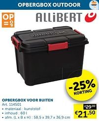 Aanbiedingen Opbergbox voor buiten - Allibert - Geldig van 05/10/2021 tot 01/11/2021 bij Zelfbouwmarkt