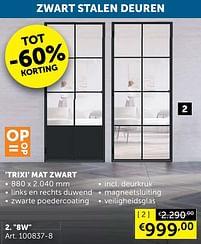 Aanbiedingen Trixi mat zwart 8w -  - Geldig van 05/10/2021 tot 01/11/2021 bij Zelfbouwmarkt