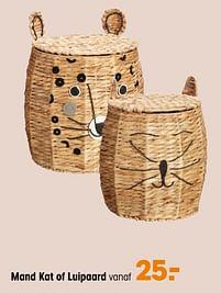 Aanbiedingen Mand kat of luipaard - Huismerk - Kwantum - Geldig van 27/09/2021 tot 31/03/2022 bij Kwantum