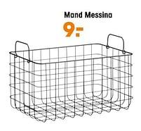 Aanbiedingen Mand messina - Huismerk - Kwantum - Geldig van 27/09/2021 tot 31/03/2022 bij Kwantum