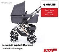 Aanbiedingen Abc design salsa 4 air asphalt diamond combi-kinderwagen - ABC Design - Geldig van 27/09/2021 tot 23/10/2021 bij Baby-Dump