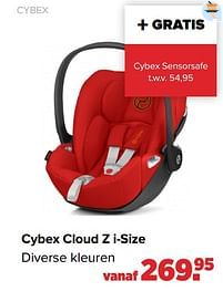Aanbiedingen Cybex cloud z i-size - Cybex - Geldig van 27/09/2021 tot 23/10/2021 bij Baby-Dump