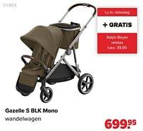 Aanbiedingen Cybex gazelle s blk mono wandelwagen - Cybex - Geldig van 27/09/2021 tot 23/10/2021 bij Baby-Dump