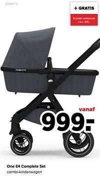 Aanbiedingen Dubatti one e4 complete set combi-kinderwagen - Dubatti - Geldig van 27/09/2021 tot 23/10/2021 bij Baby-Dump