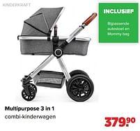 Aanbiedingen Kinderkraft multipurpose 3 in 1 combi-kinderwagen - Kinderkraft - Geldig van 27/09/2021 tot 23/10/2021 bij Baby-Dump