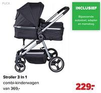 Aanbiedingen Puck stroller 3 in 1 combi-kinderwagen - Puck - Geldig van 27/09/2021 tot 23/10/2021 bij Baby-Dump