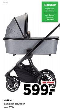 Aanbiedingen Qute q-rider combi-kinderwagen - Qute - Geldig van 27/09/2021 tot 23/10/2021 bij Baby-Dump