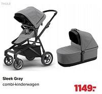 Aanbiedingen Thule sleek gray combi-kinderwagen - Thule - Geldig van 27/09/2021 tot 23/10/2021 bij Baby-Dump