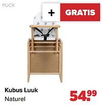 Aanbiedingen Puck kubus luuk naturel - Puck - Geldig van 27/09/2021 tot 23/10/2021 bij Baby-Dump