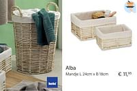 Aanbiedingen Alba mandje l - Kela - Geldig van 04/10/2021 tot 16/11/2021 bij Multi Bazar