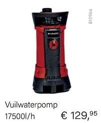 Aanbiedingen Einhell vuilwaterpomp - Einhell - Geldig van 04/10/2021 tot 16/11/2021 bij Multi Bazar