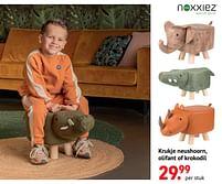 Aanbiedingen Krukje neushoorn, olifant of krokodil - Noxxiez - Geldig van 11/10/2021 tot 06/12/2021 bij Multi Bazar
