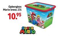 Aanbiedingen Opbergbox mario bross - Super Mario - Geldig van 11/10/2021 tot 06/12/2021 bij Multi Bazar