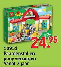 Aanbiedingen 10951 paardenstal en pony verzorgen - Lego - Geldig van 11/10/2021 tot 06/12/2021 bij Multi Bazar