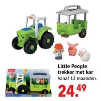 Aanbiedingen Little people trekker met kar - Fisher-Price - Geldig van 11/10/2021 tot 06/12/2021 bij Multi Bazar
