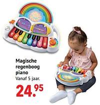 Aanbiedingen Magische regenboog piano - Vtech - Geldig van 11/10/2021 tot 06/12/2021 bij Multi Bazar