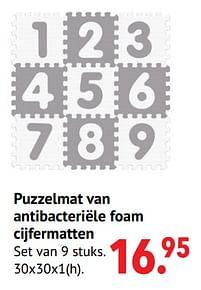 Aanbiedingen Puzzelmat van antibacteriële foam cijfermatten - Smoby - Geldig van 11/10/2021 tot 06/12/2021 bij Multi Bazar